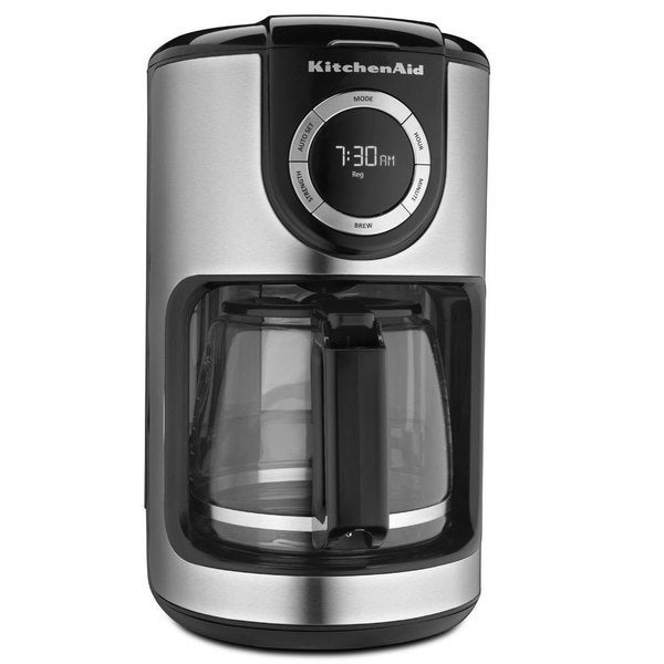 KitchenAid KCM1202OB Onyx Black 12-cup Glass Carafe Coffee Maker 13374343