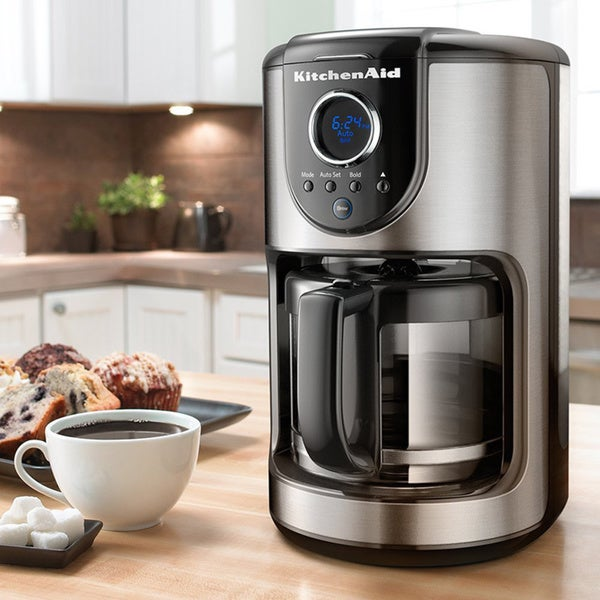 KitchenAid KCM1202OB Onyx Black 12-cup Glass Carafe Coffee Maker 13374343