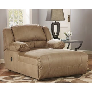 Signature Design by Ashley Hogan Mocha Press Back Chaise