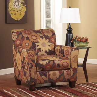 Signature Design by Ashley Gale Rustic Floral Accent Chair