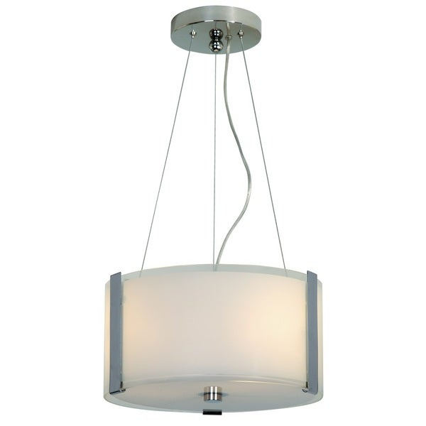 Apollo White Pearl Glass Shade Pendant