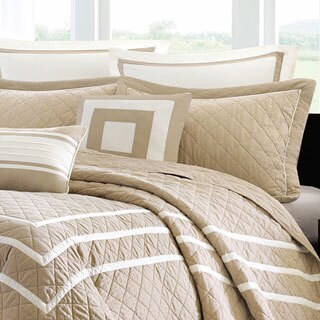 Madison Park Columbia 7-piece Quilted King Coverlet Set (As Is Item)