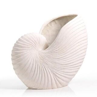 Sand Stone Nautilus Shell Large Vase