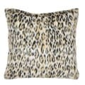 Leopard Faux Fur 18-inch Throw Pillow