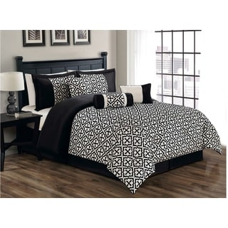 Gladstone 7-piece Flocking Comforter Set