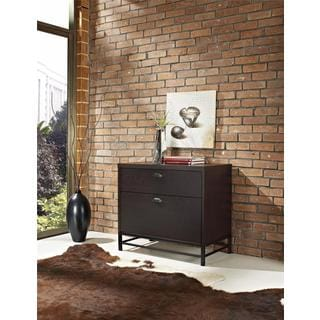 Altra Manhattan Chocolate Oak Lateral File Cabinet