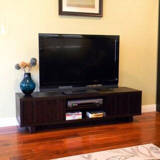 Conrad Dark Birch TV Stand/ TV console Table
