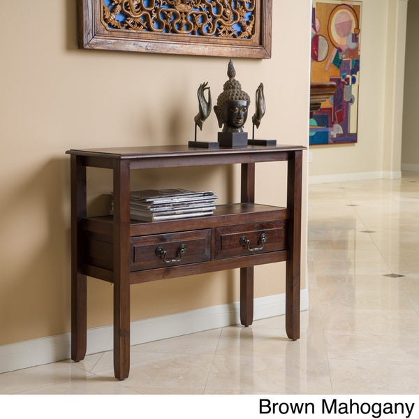 Christopher Knight Home Grant Acacia Wood Accent Table