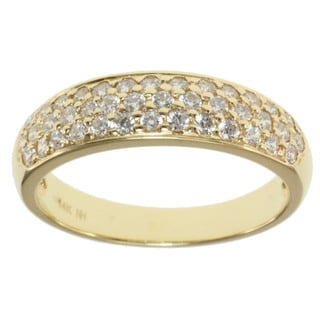 Michael Valitutti Signity 14k Yellow Gold and Cubic Zirconia Pave-set Band Ring