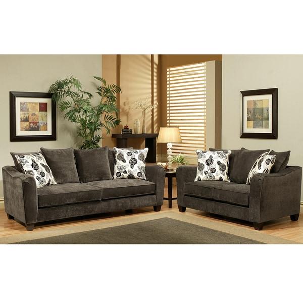 Grey Sofa and Loveseat Furniture 600 x 600