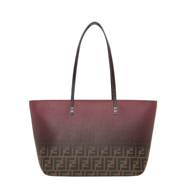 Fendi Small Two-tone Zucca Roll Tote