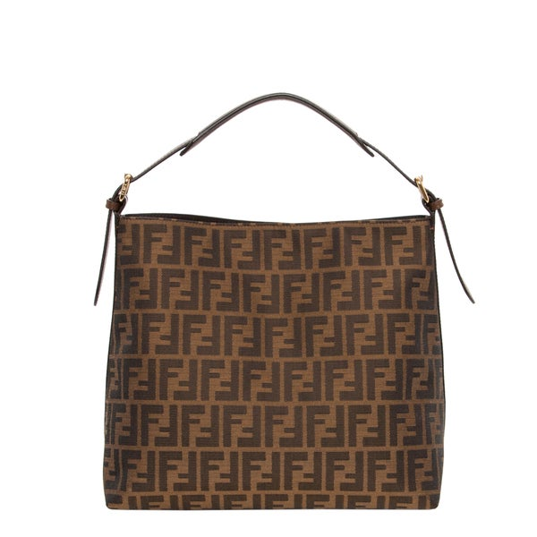 Fendi Small Zucca Pattern Hobo Bag
