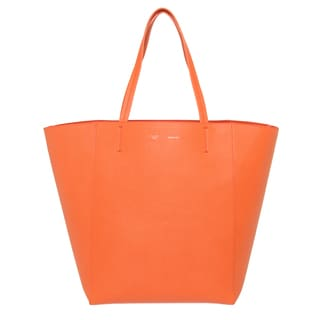 Celine Medium Coral Textured Leather Tote