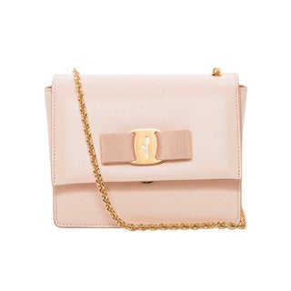 Salvatore Ferragamo 'Vara' Mini Blush Leather Flap Bag