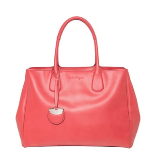 Salvatore Ferragamo 'Nolita' Large Rose Leather Tote