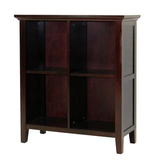 Ferndale Espresso Storage Bookcase with Two Adjustable Shelves