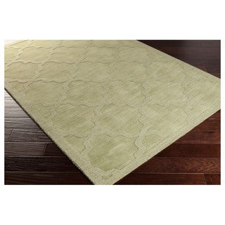 Artistic Weavers Hand-woven Amy Tone-on-Tone Lattice Wool Area Rug (3' x 5')