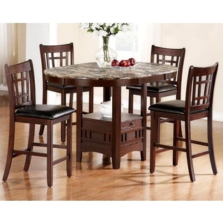Idalia Casual Counter Height Wood Dining Set