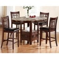 Idalia Casual Black Counter Height Wood Dining Set