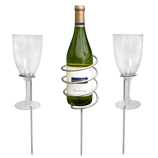 Epicureanist Wine Bottle and Glass Holding Stakes