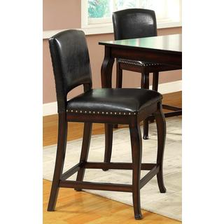 Madera Elegant Nail Head Trim Counter Stools (Set of 2)