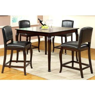 Madera Elegant Nail Head Trim 5-piece Counter Height Dinning Set