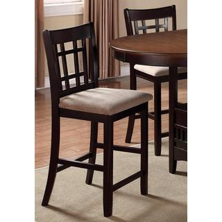 Splendor Espresso Counter Height Dining Stools (Set of 2)