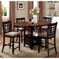 Splendor Espresso 5-piece Counter-height Dining Set