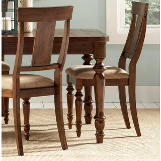 Liatris Rustic Cocoa Brown Dining Chairs (Set of 2)