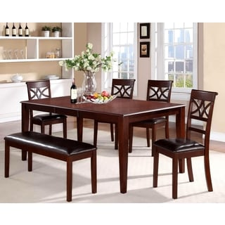 Heritage Design Cherry and Leatherette Dining Set