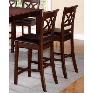 Heritage Design Cherry and Leatherette Counter-height Dining Stools (Set of 2)