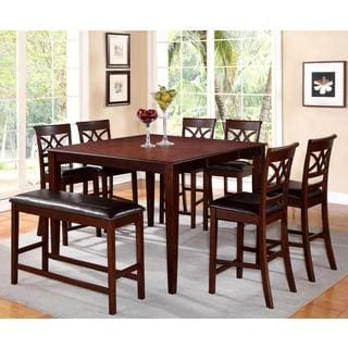 Heritage Design Cherry and Leatherette Counter-height Dining Set