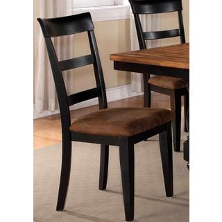 Denmark Classic Distressed Black Dining Chairs (Set of 2)