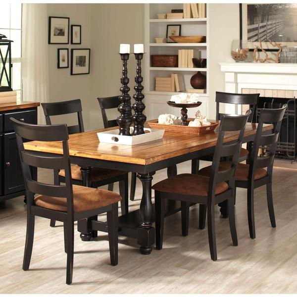 Denmark Classic Distressed Black 7 Piece Dining Set 16408275