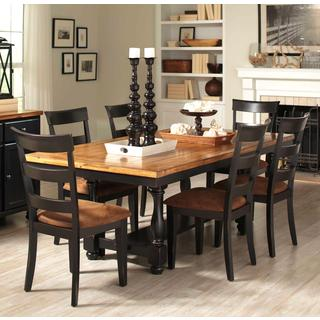 Denmark Classic Distressed Black 7-piece Dining Set