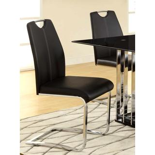 Oibku Sail Design Chrome Dinning Chairs (Set of 4)