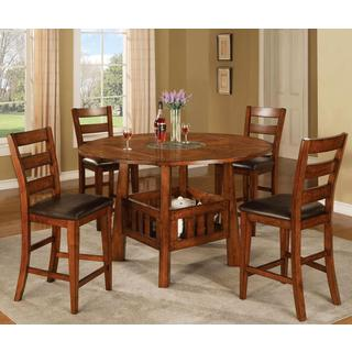 Minale Distressed Oak Counter Height 5-piece Dining Set