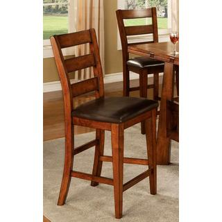 Minale Distressed Oak Counter Stools (Set of 2)