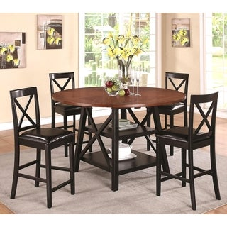 Arosa Rustic Oak / Black Counter Height 5-piece Dining Set