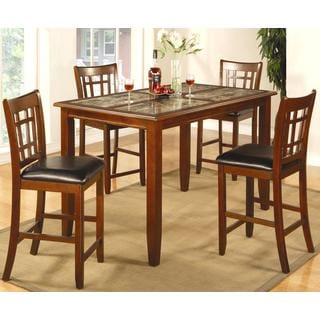 Davos Cherry Counter Height Dining Set