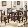 Azalea Warm Brown/ Cherry Counter Height Dining Set