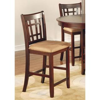 Azalea Cherry Counter Height Stools (Set of 2)