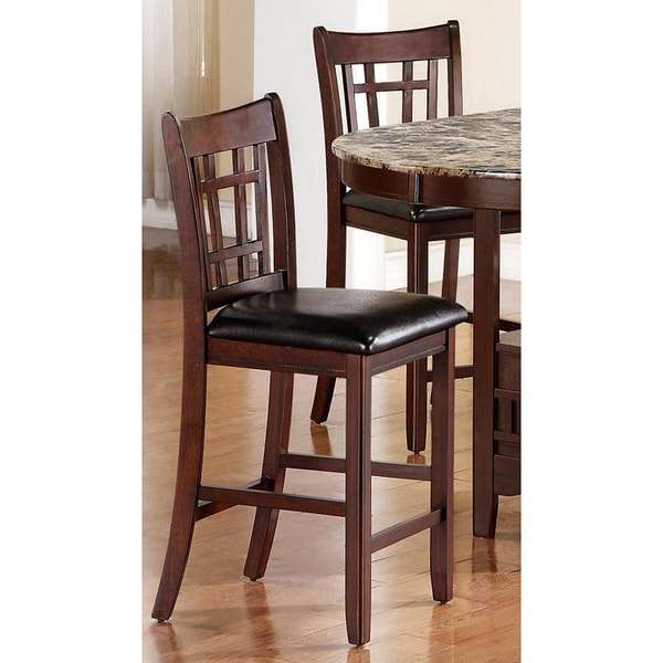 Idalia Casual Black and Brow Counter Height Stools (Set of 2)