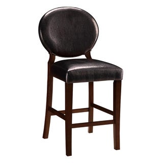 Bryant Upholstered Cherry Wood Counter Stools (Set of 2)