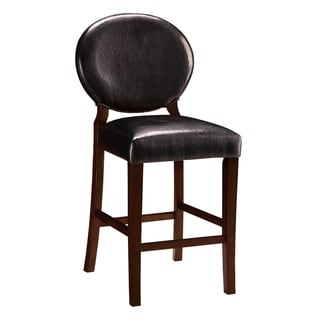 Monarch Black Leather Counter Stools Set Of 2 11285796