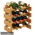 16-bottle Stackable Wood Dakota Wine Rack