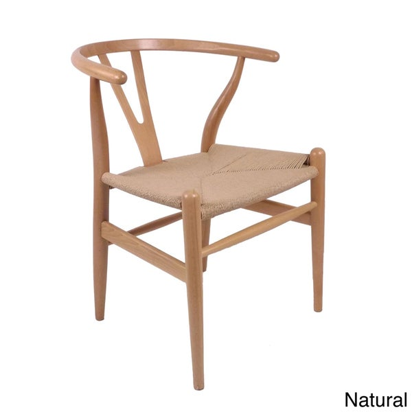 hans andersen home wishbone chair walnut base natural seat