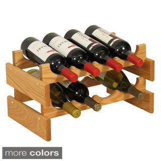8-bottle Stackable Wood Dakota Wine Rack