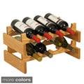 8-bottle Stackable Wood Dakota Wine Rack