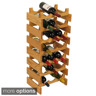 21-bottle Stackable Wood Dakota Wine Rack